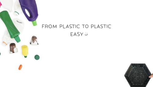 廃棄プラスチックでアート!