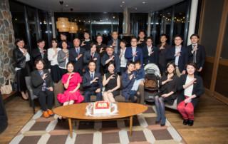 CHU創立10周年パーティー 記念写真